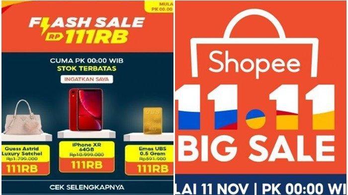 Serbu Promo 11 11 Hari Ini Begini Cara Dapat Kode Shopee Lazada Hingga Tokopedia Tribun Manado
