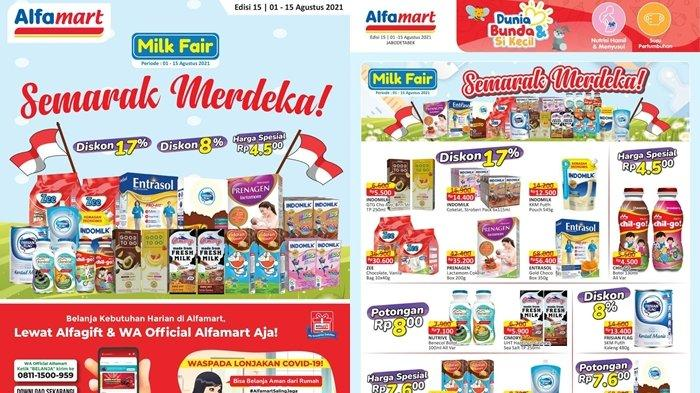 Promo Alfamart 2 Agustus 2021, Produk Susu Diskon 17 Persen, Beli Cemilan dan Minuman Gratis 1