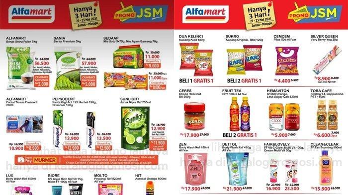 Promo Alfamart 21 Mei 2021, Murmer, Diskon Harga Beras & Minyak Goreng, Beli 2 Gratis 1, Cek Katalog