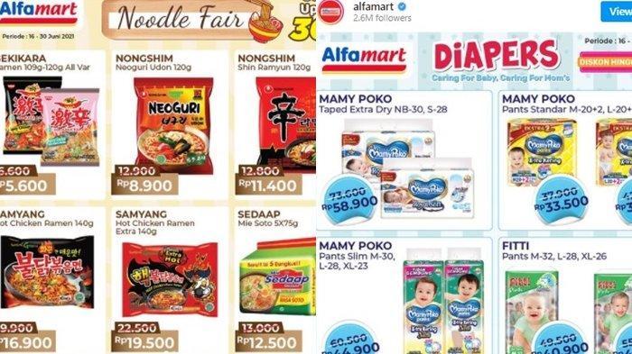 Promo Alfamart 23 Juni 2021, Makanan Korea Diskon hingga 25 Persen, Popok Bayi Turun Harga
