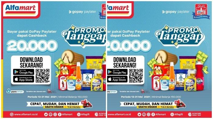 Promo Alfamart Hari Senin 17 Mei 2021, Pakai Gopay Cashback 20.000, Cek Katalognya di Sini