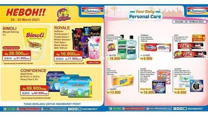 Promo Alfamart Hari Senin 29 Maret 2021, Beli Kuota Gratis Minyak Goreng, Cek Katalognya di Sini!
