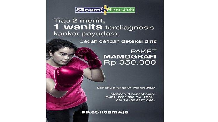 Promo Dari Siloam Hospital Manado Deteksi Kanker Payudara Sejak Dini
