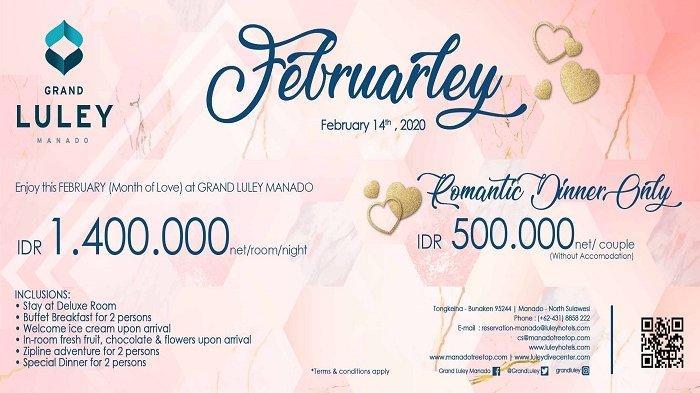 "Promo ""Februarley"" Valentine Romantic Dinner Bersama Grand Luley Resort Manado"