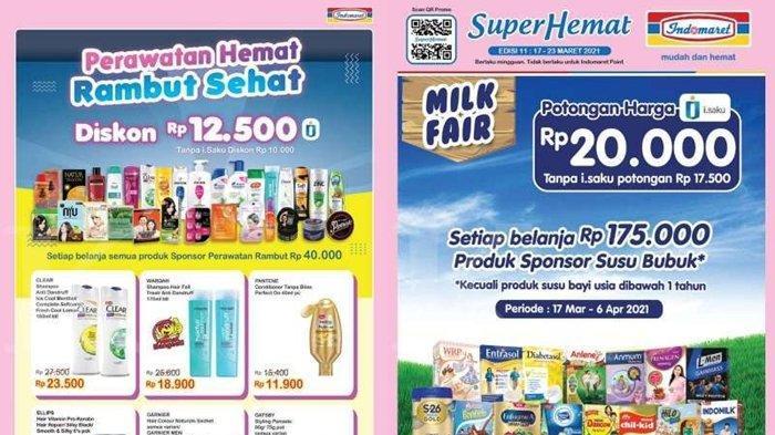 Promo Indomaret 17 Maret 2021, Belanja Super Hemat hingga Diskon Rp 20 Ribu, Cek Katalog di Sini