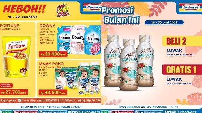 Promo Indomaret 21 Juni 2021, Beli 2 Kopi Gratis 1, Diskon Minyak Goreng dan Popok Bayi, Cek Katalog