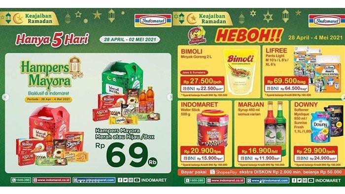 Promo Indomaret Hari Kamis 29 April 2021, Sirup Marjan Rp 11.900 per Botol, Cek Katalognya di Sini