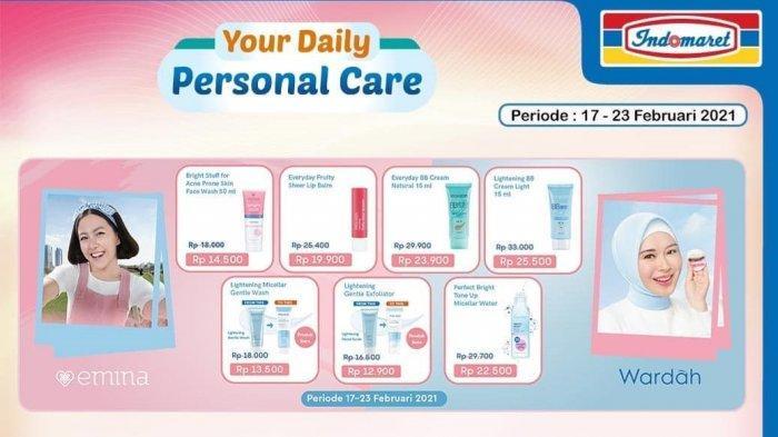 Promo Indomaret Hari Minggu 21 Februari 2021, Produk Skin Care Banyak Diskon, Cek Katalog di Sini!