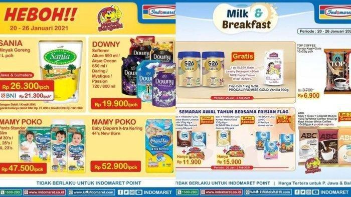 Promo Indomaret Hari Sabtu 23 Januari 2021,Minyak Goreng Sania 2L Rp 21.300, Lengkapnya Cek Katalog