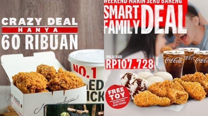 Promo KFC 15 Agustus 2021, Crazy Deal Beli 9 Potong Ayam Mulai dari Rp 60 Ribuan