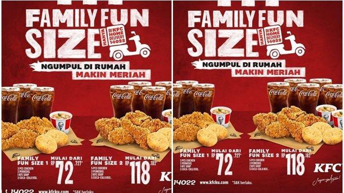 Promo KFC 27 Februari 2021, Diskon Paket Family Fun Size, Harga Mulai Rp 72 Ribu, Buruan!