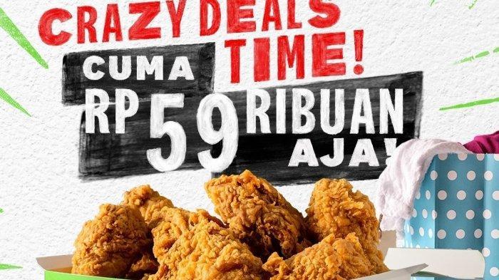 Promo KFC 4 Mei 2021, KFC Ajaib hingga Crazy Deal 5 Potong Ayam Cuma Rp 59 Ribuan, Buruan!