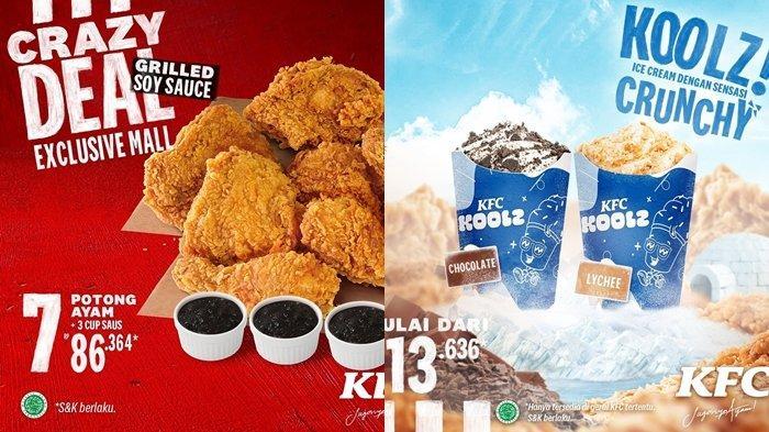 PROMO KFC Hari Ini 4 Juni 2021,Crazy Deal, 7 Potong Ayam Hanya Rp 80 Ribuan, Koolz Rp 13.636
