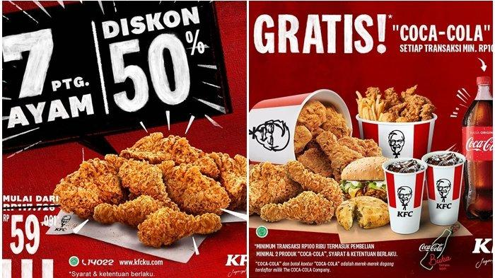 Promo KFC Terbaru Hari Ini 16 November 2020, Beli 7 Potong Ayam Diskon 50 Persen, Hanya Rp 59 Ribuan