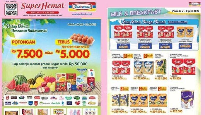 Promo Indomaret 2 Juni 2021, Telur Ayam Diskon 10 Persen, Beli 2 Gratis 1, Cek Katalog di Sini