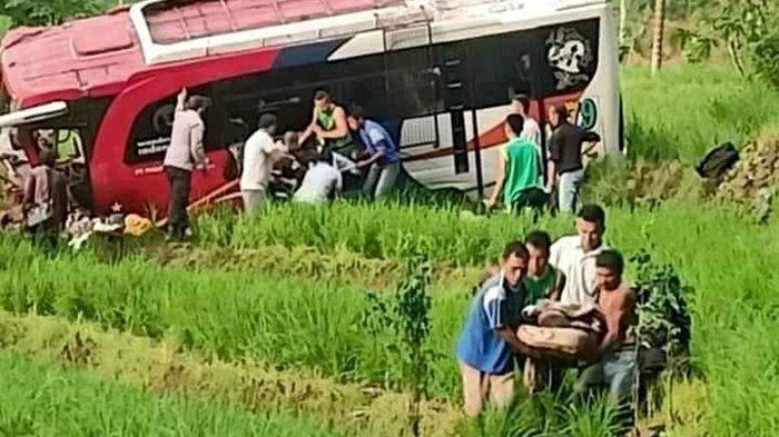 Kecelakaan Maut, Dua dari 41 Penumpang Tewas usai Bus Terjun ke Jurang, Rem Blong saat Ditikungan