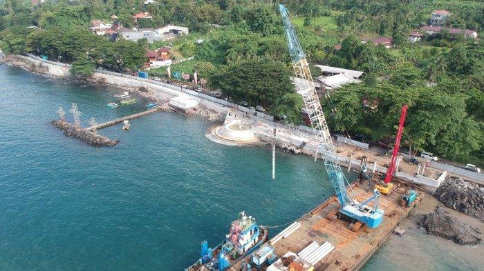 BERITA FOTO, Pembangunan Waterfront Malalayang Manado