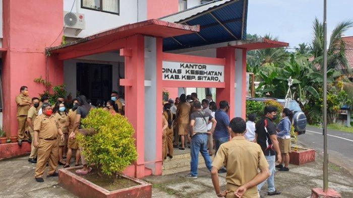 Proses pemeriksaan Antigen bagi para ASN di lingkungan Pemkab Sitaro