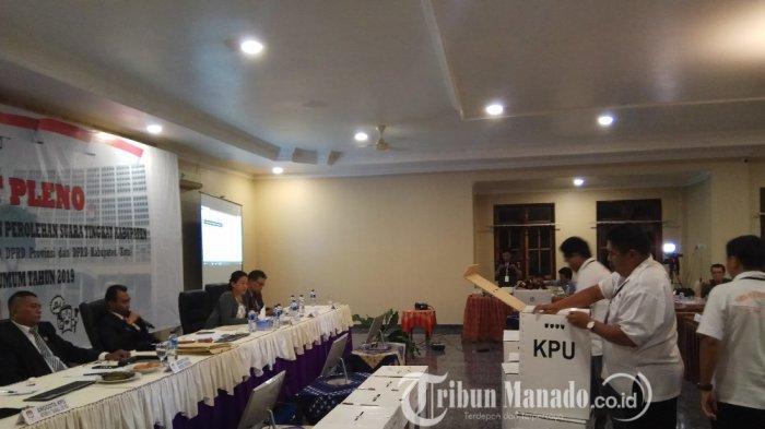 Pleno Hasil Rekapitulasi Penghitungan Perolehan Suara Tingkat Kabupaten Sitaro Berjalan Lancar