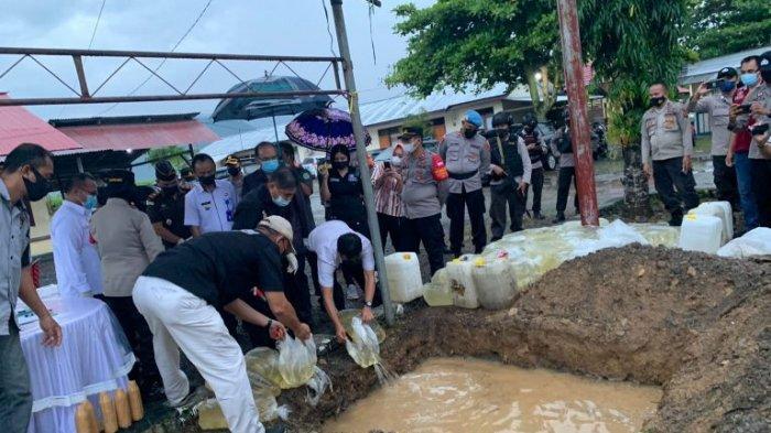 3147 Liter Miras dan Merkuri Dimusnahkan Polres Bolmong