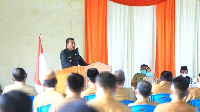 Bupati Depri Pontoh Tegaskan PTM di Kecamatan Pinogaluman Harus Terapkan Prokes