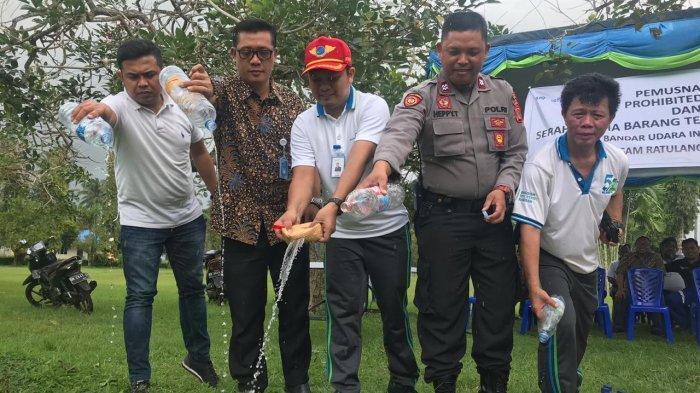 Angkasa Pura I Bandara Sam Ratulangi Manado Musnahkan Prohibited Item