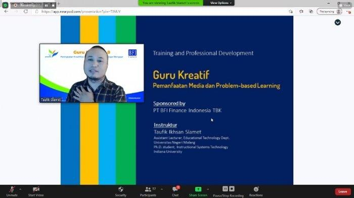 BFI Finance Peduli Pengembangan Kapasitas Guru, Gelar Pelatihan Virtual 'Guru Kreatif 4.0'