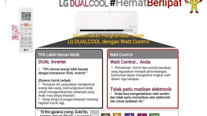 PT LG Electronics Indonesia Cabang Manado Sediakan RAC LG Dual Cool With Watt Control
