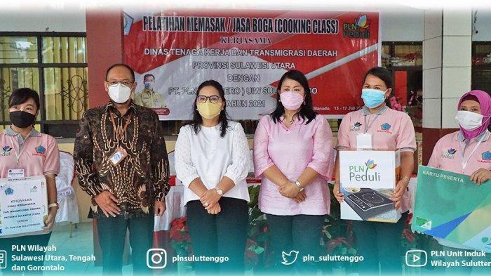 Bersama Disnakertrans, PLN Suluttenggo Turut Kembangkan Tenaga Kerja Kompeten Melalui Cooking Class