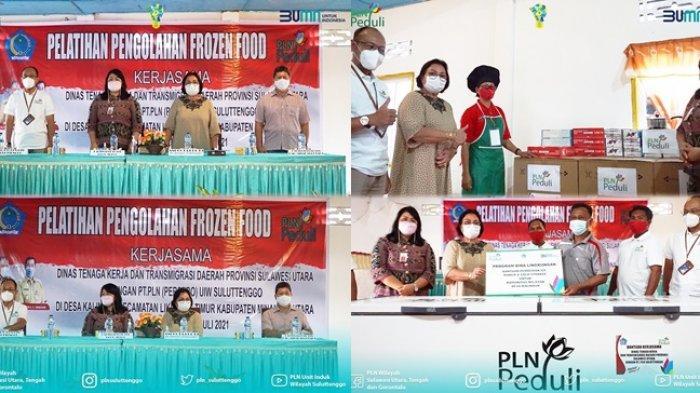 PLN Peduli Kelompok Ibu Rumah Tangga Desa Kalinaun, Beri Bantuan Pelatihan dan Peralatan Masak