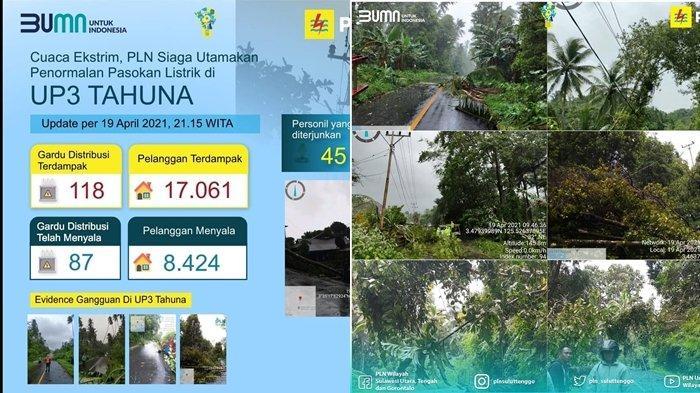 PLN Gerak Cepat Atasi Gangguan Kelistrikan karean Cuaca Ekstrim yang Melanda Kepulauan Nusa Utara