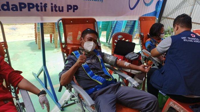 Rayakan HUT ke 68, PT PP Proyek Bendungan Lolak Gelar Donor Darah dan Rapid Test Antigen
