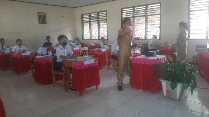 PTM Terbatas SMP N 3 Tomohon Lancar, Tiap Kelas Maksimal 16 Siswa