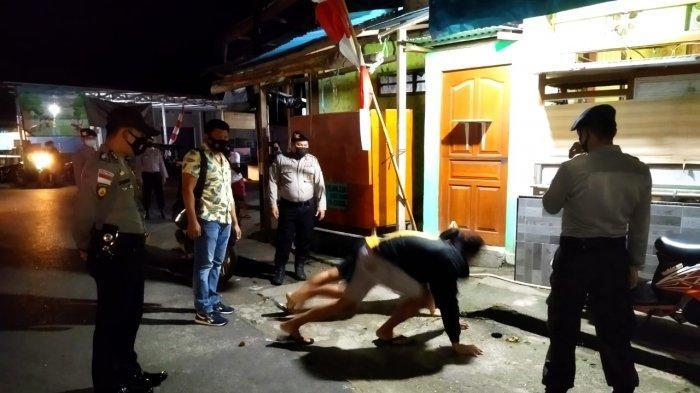Polres Talaud Beri Sanksi Push Up Warga yang Tak Pakai Masker