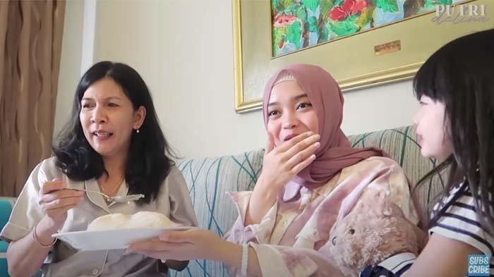 Momen Putri Delina Dimanja Calon Mertua, Disuapi saat Makan: 'Nggak Bisa, Kamu Harus Makan!'