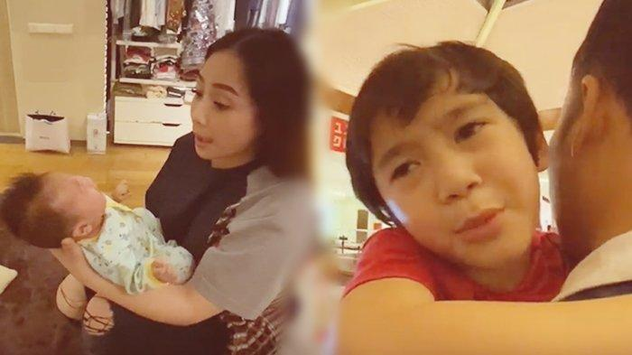 Lihat Nagita Slavina Gendong Kiano Tiger Wong, Rafathar Cemberut Minta Pulang