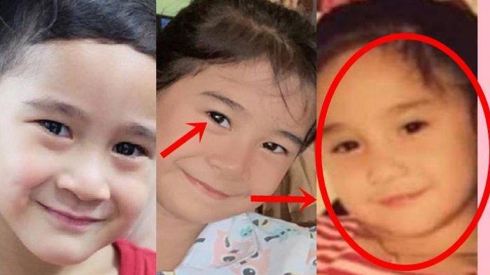 Rafathar dan Azza bocah yang mirip wajah Rafathar (foto sebelah kanan foto Nagita waktu kecil)