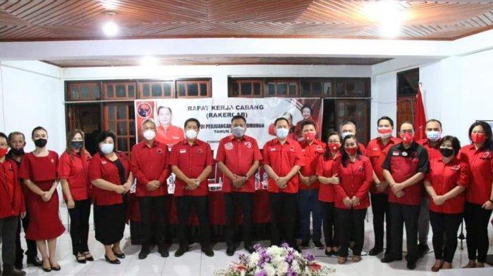 Rakercab PDI-P Tomohon yang digelar Kamis (27/5/2021).