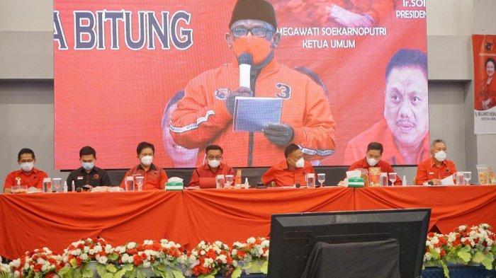 Olly Dondokambey Pimpin Rakercab PDIP Kota Bitung, Ingatkan Soal 3 Pilar Partai