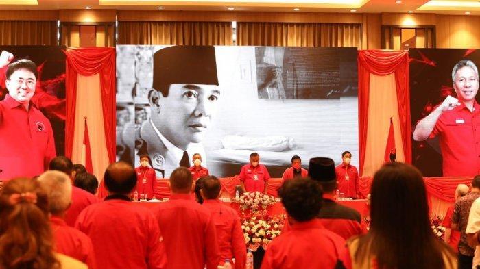 Rakerda PDIP Sulut di Kota Manado, Senin 28 Juni 2021.