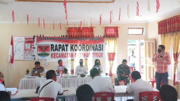 Pemerintah Kecamatan Ratahan Timur Gelar Rakor Bersama Instansi Teknis dan TNI-POLRI
