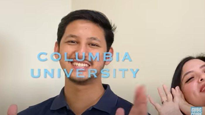 Randi Bachtiar dan Tasya Kamila saat umumkan hasil tes masuk kuliah di Columbia University, 5 Agustus 2021