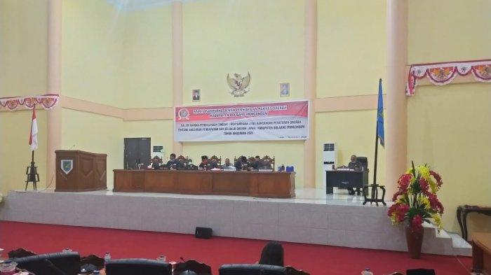 Rapat Paripurna APBD 2021 Dewan Perwakilan Rakyat Daerah (DPRD) Bolmong.