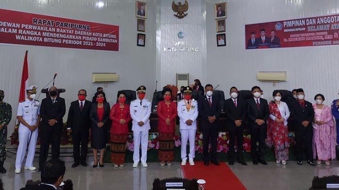 Pelantikan Wali Kota Bitung, Gubernur Sulut Olly Dondokambey Pesan Jadi Pemimpin Seperti Petani