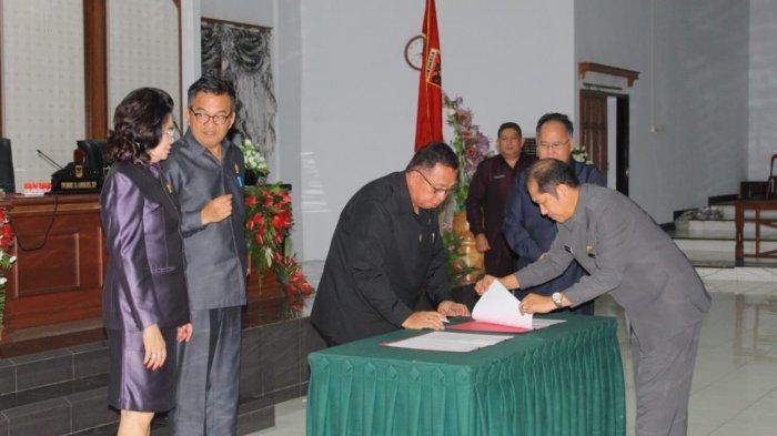 DPRD Minahasa Gelar Paripurna Ranperda Pertanggungjawaban APBD 2018
