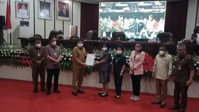 DPRD Kota Manado Gelar Paripurna Pembicaraan Tingkat Dua 2 Ranperda
