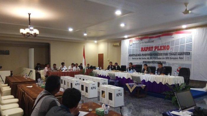 Sebagian Saksi Caleg DPD RI Tidak Ikut Rapat Pleno Hasil Rekapitulasi Penghitungan Suara di Sitaro