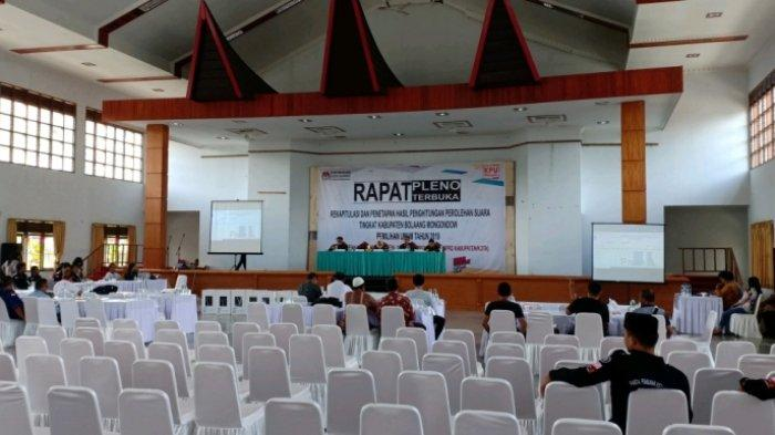 KPU Bolmong Targetkan Rapat Pleno Kabupaten Selesai Hari Ini