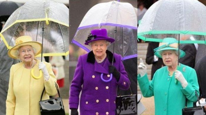 Ratu Elizabeth II dengan warna baju menyala