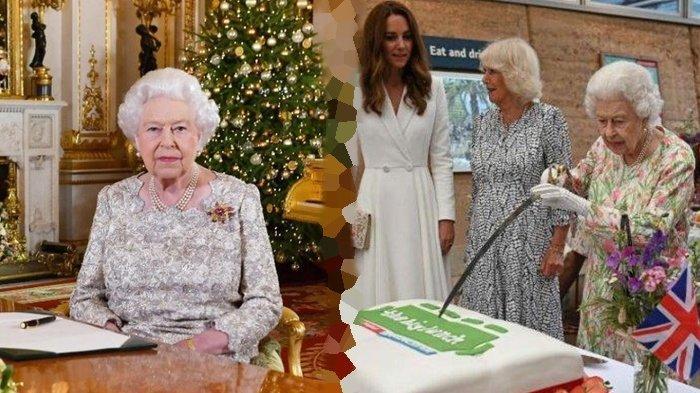 Saat Ratu Elizabeth buat Kate Middleton dan Orang-orang Cekikikan, Potong Kue Menggunakan Pedang